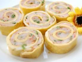 Trứng cuộn tôm hấp