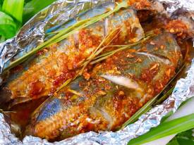Cá nục nướng sả